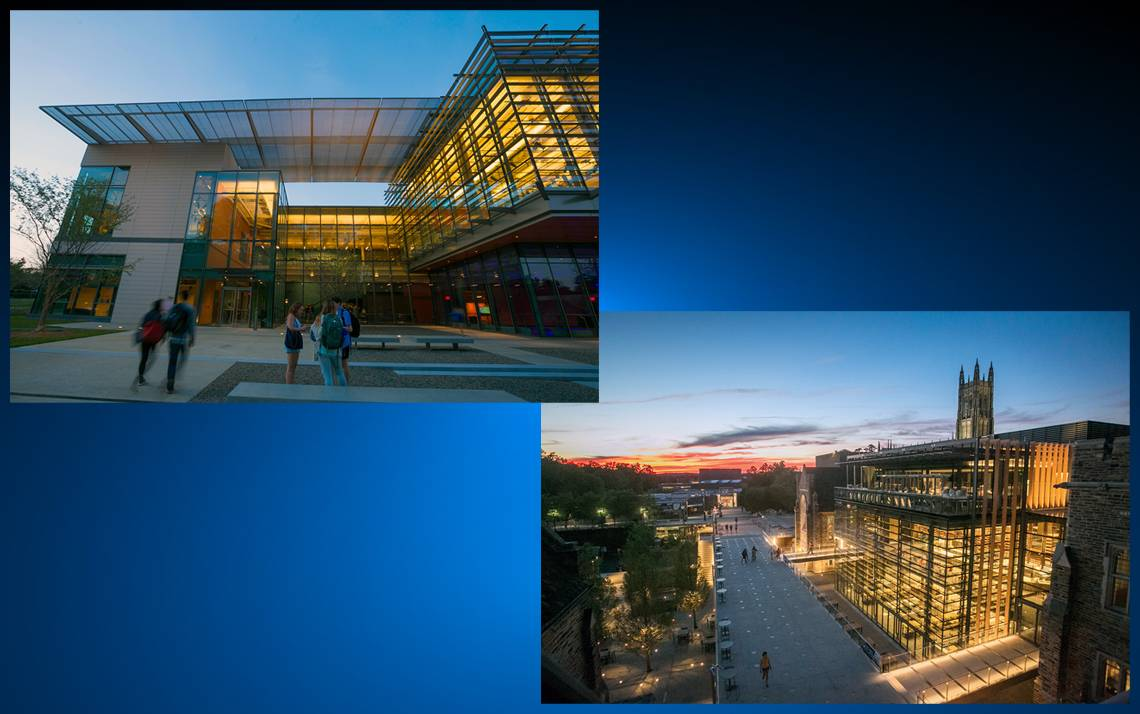 Rubenstein Arts Center and West Campus both received national awards.