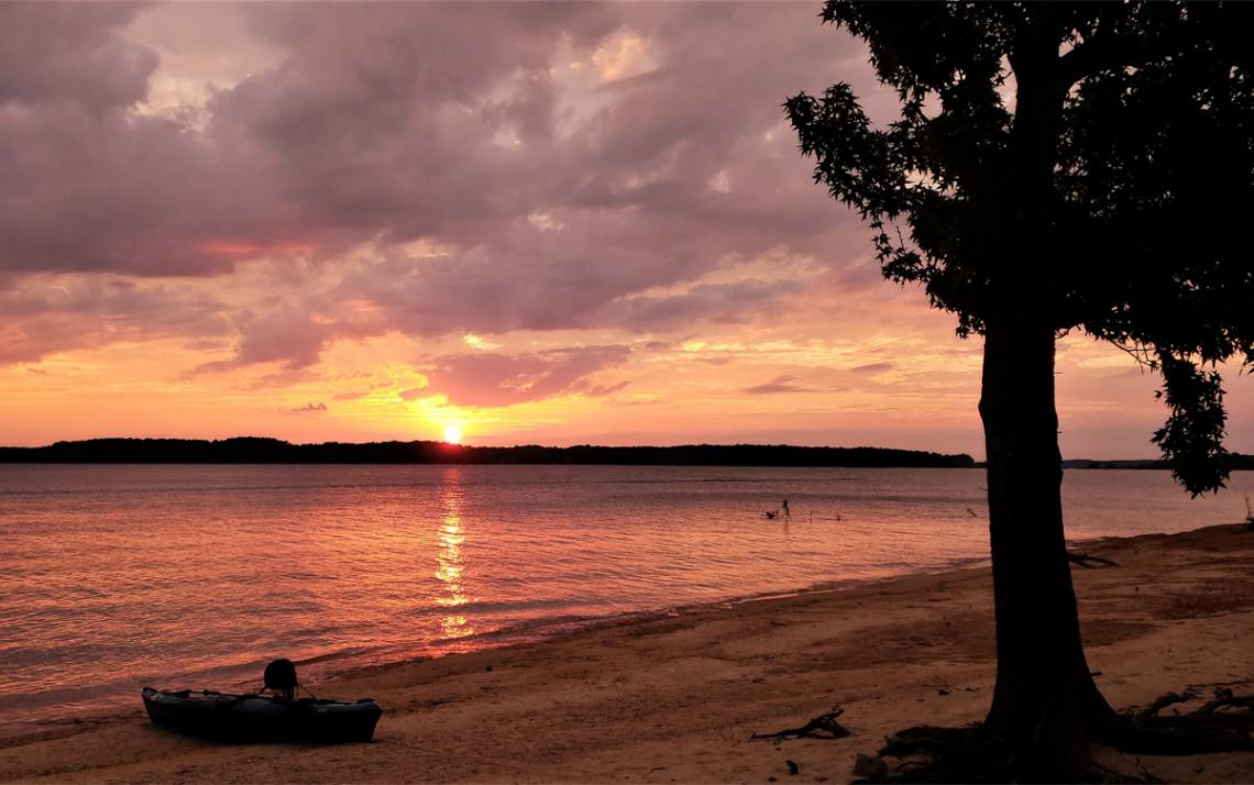 Samantha Shaltz, lab research analyst for Duke Molecular Genetics and Microbiology, submitted a photo of Kerr Lake in the 2018 Duke Time Off Contest. Kerr Lake is about 45 minutes north of Durham.