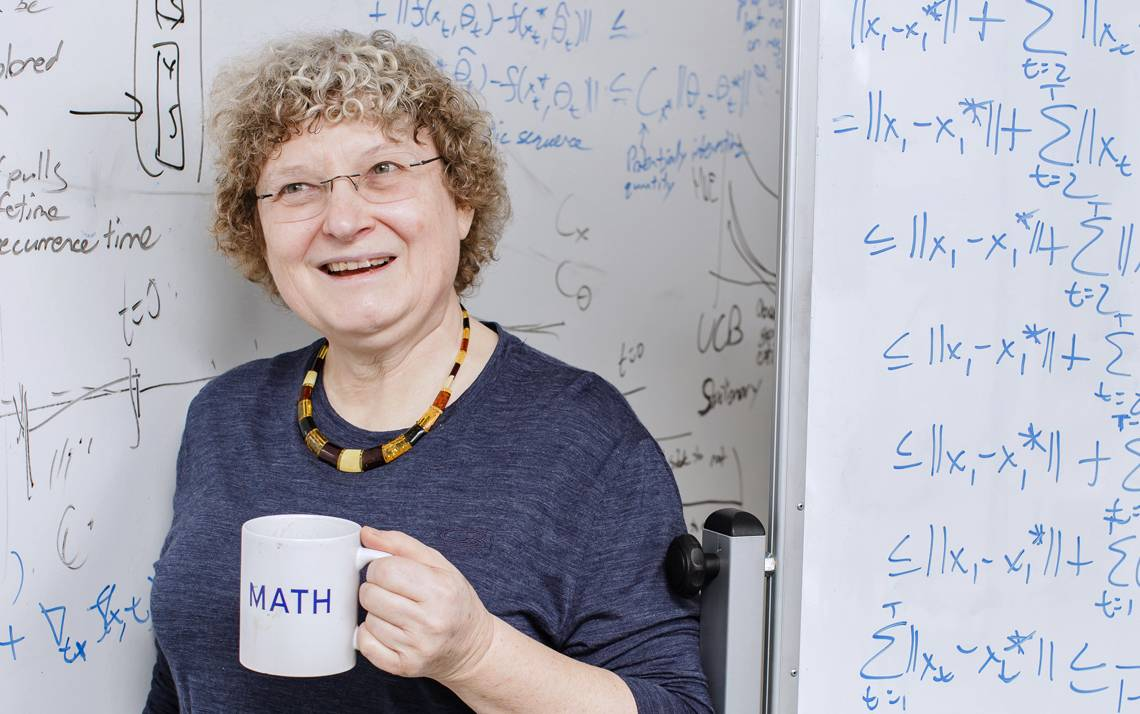 James B. Duke Professor of Mathematics and Electrical and Computer Engineering Ingrid Daubechies is one of Duke University's most accomplished faculty members. Photo by Justin Cook.