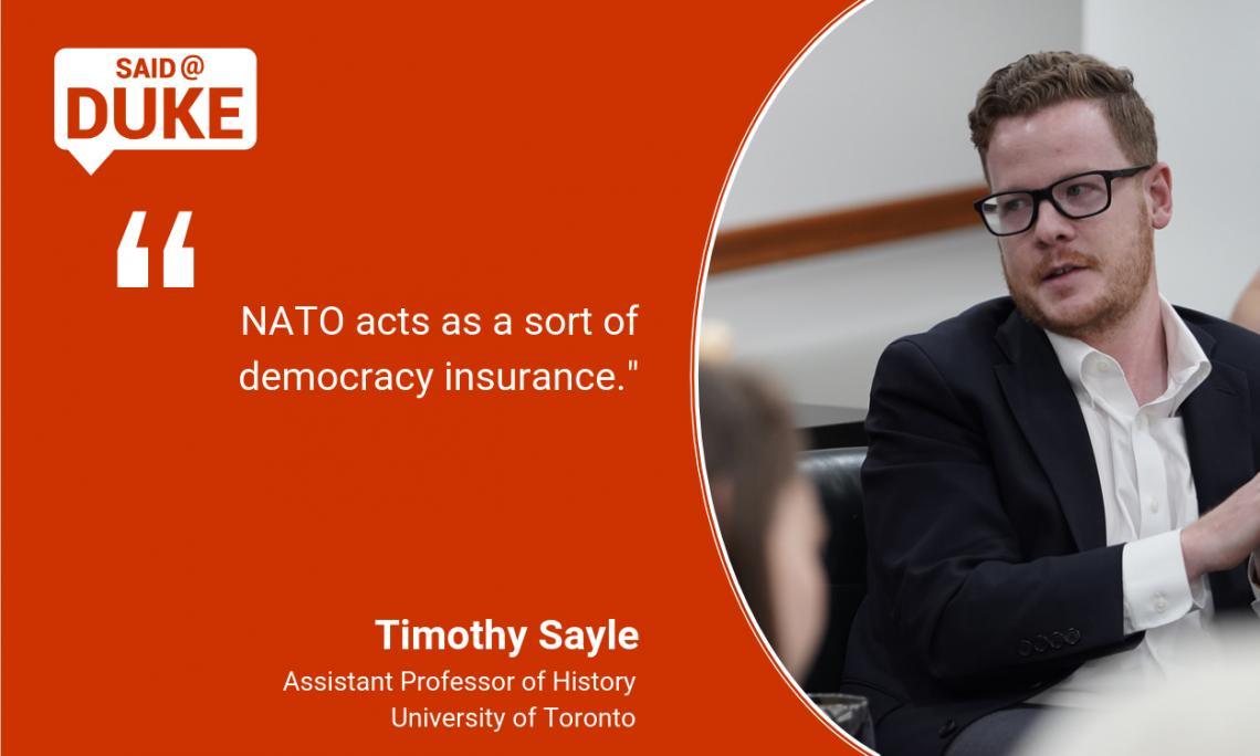 Said@Duke: Timothy Sayle on the Future of NATO