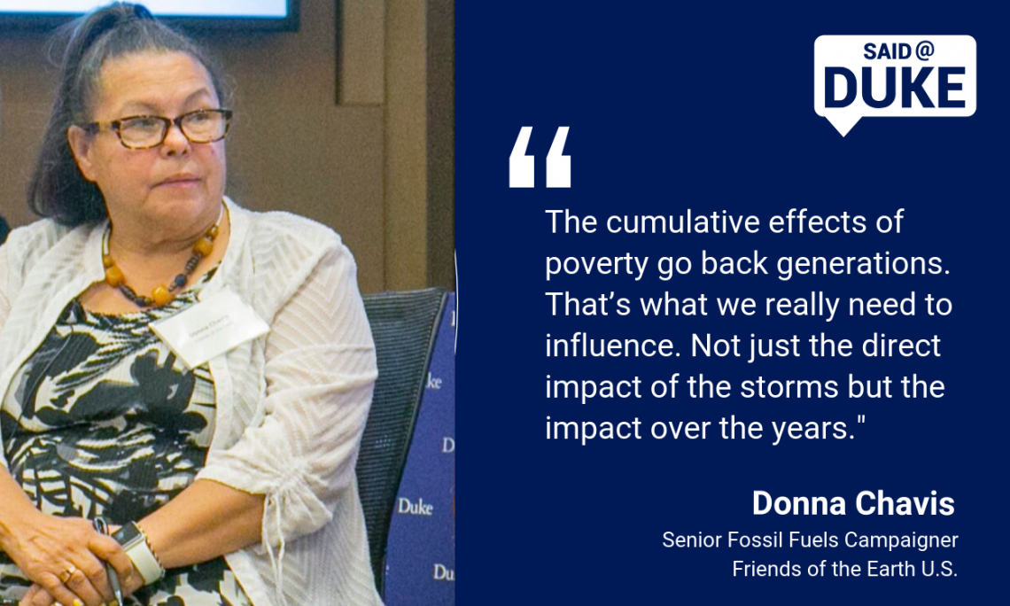 Said@Duke: Donna Chavis on How Major Storms Can Prolong Poverty