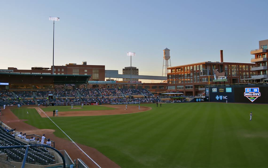 The Duke Blue Devils and Durham Bulls square off in the Battle in the Bull City on Tuesday. Photos by Stephen Schramm.