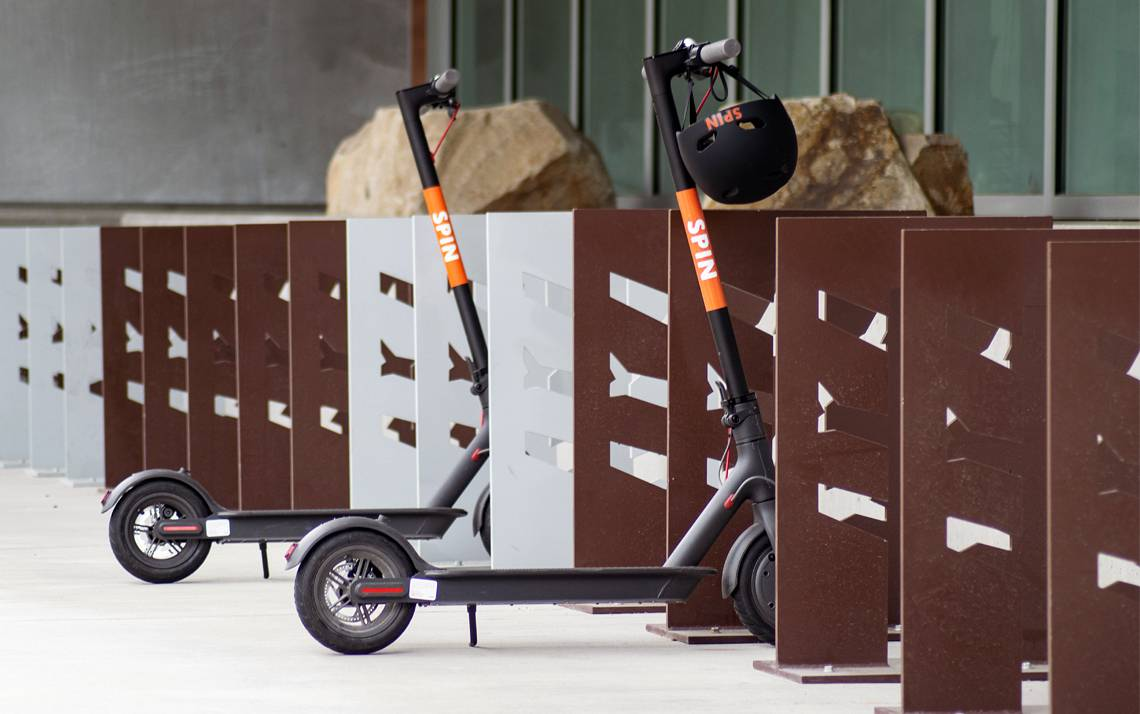 Spin is one of four companies bringing electric scooters to Durham. Photo courtesy of Spin.
