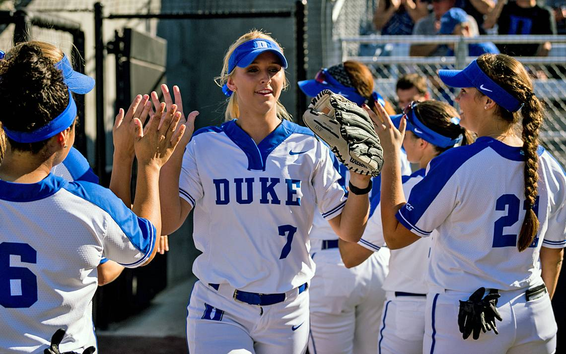 The Duke softball team will take on two Big Ten teams in four games at its East Campus stadium in February.