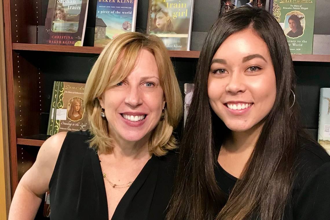 Aspiring writer Cara O'Malley, right, is mentored by novelist Christina Baker Kline through StudioDuke