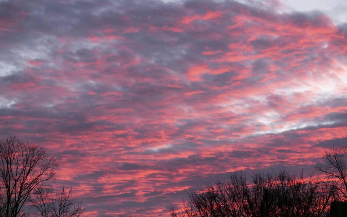 The sky at sunrise over Duke's campus. Photo courtesy of University Communications.