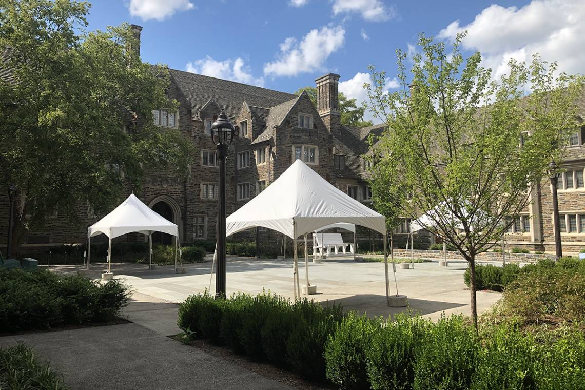 Tents in Craven Quad