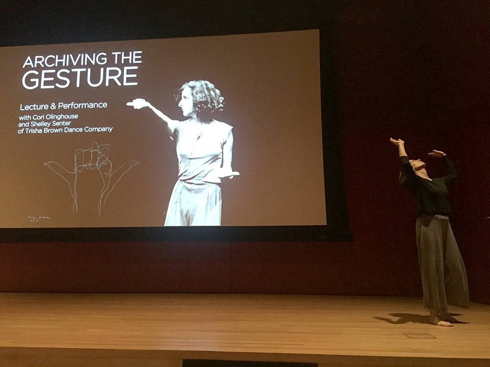 Two former members of the Trisha Brown Dance Company spoke at Duke about Brown and the processes that go into creating and performing a dance. Photo by Luke Hicks.