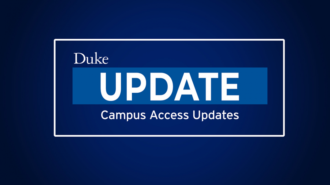 COVID update: campus access limited