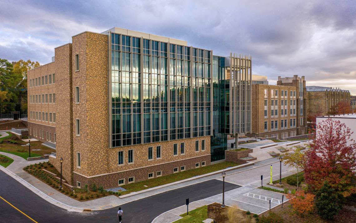 The Wilkinson Building is the newest addition to Duke's campus. Photo courtesy of University Communications.