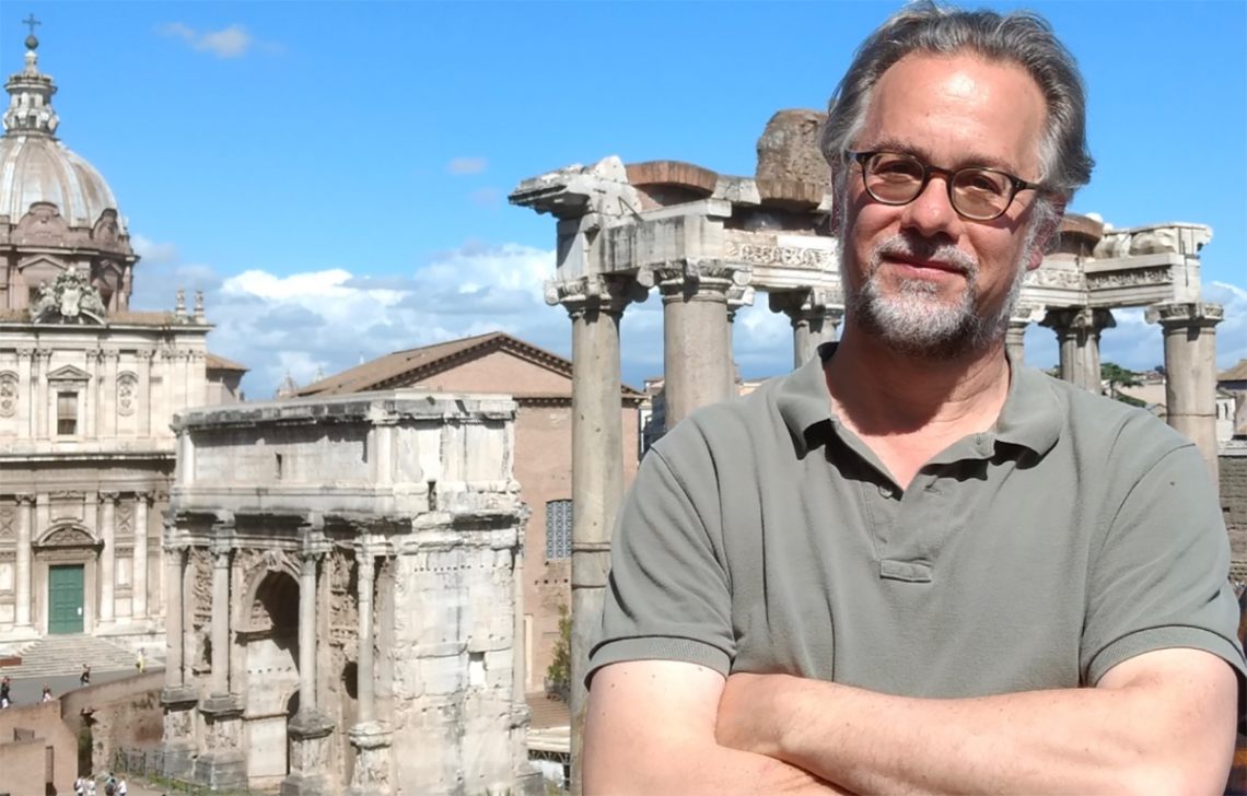 Professor William Johnson in Rome.