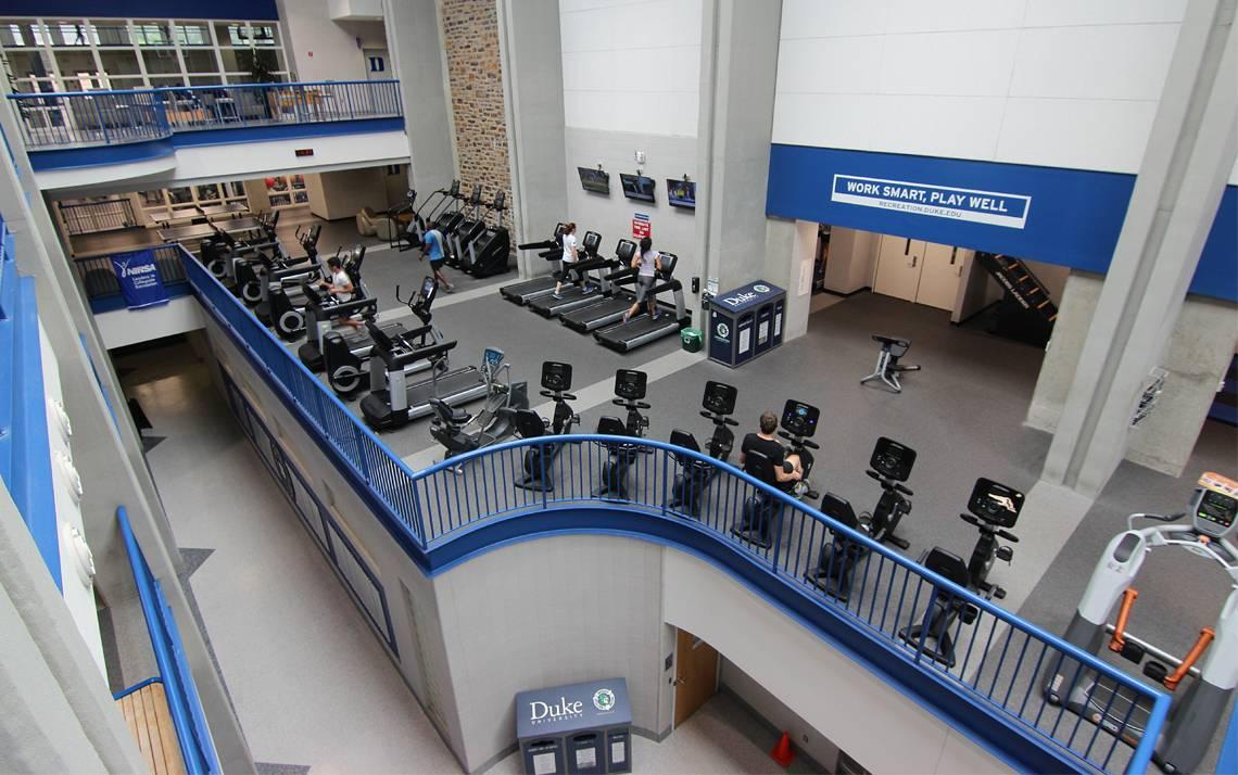 Join Wilson Recreation Center through the Duke Fitness Club. Photo courtesy of Duke Recreation & Physical Education.