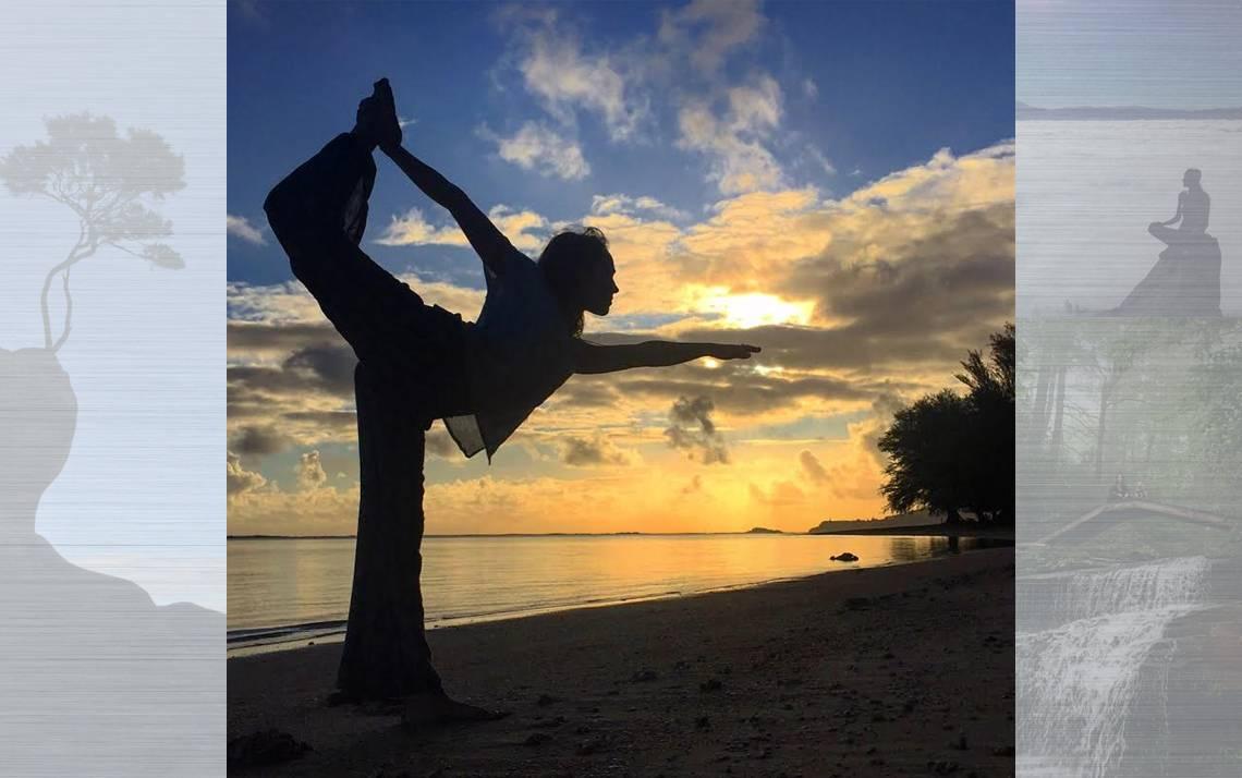 Shannon O'Toole's yoga pose silhouette.