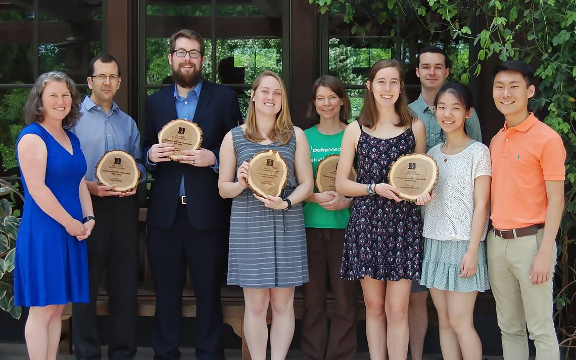Duke's 2017 Sustainability Award winners. Photos by Stephen Schramm.