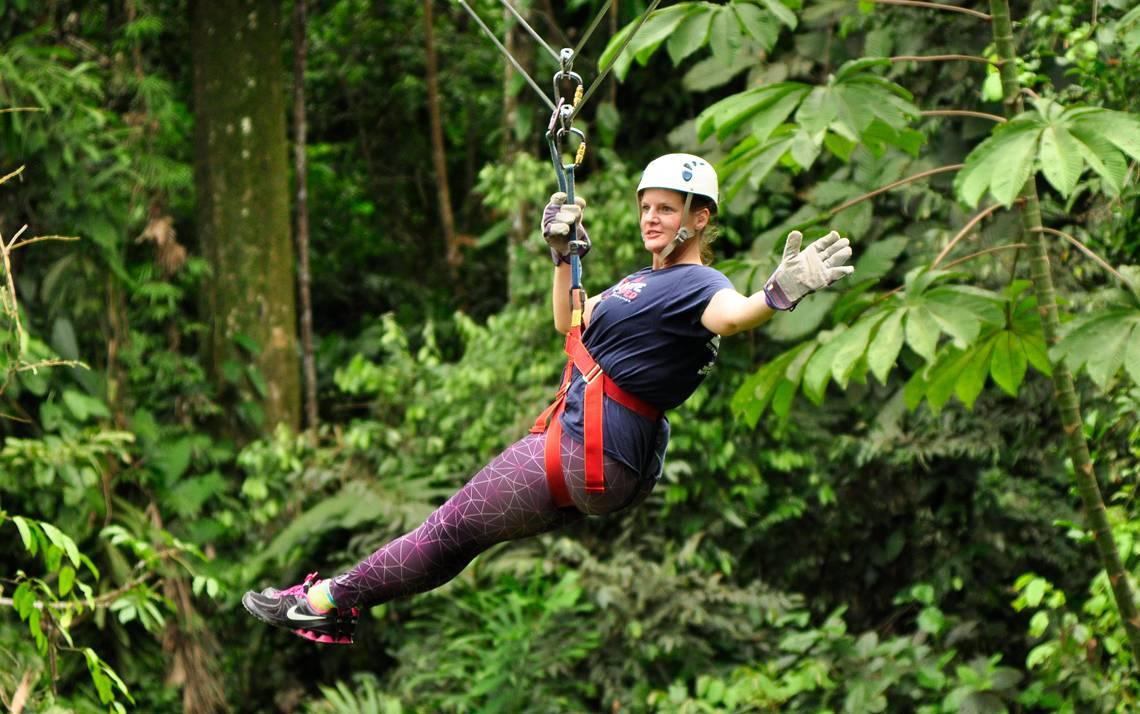 Christi Loucka of Duke's Biomedical Engineering Department, took advantage of the savings to make her adventure to Costa Rica easier. Photo courtesy of Christi Loucka.