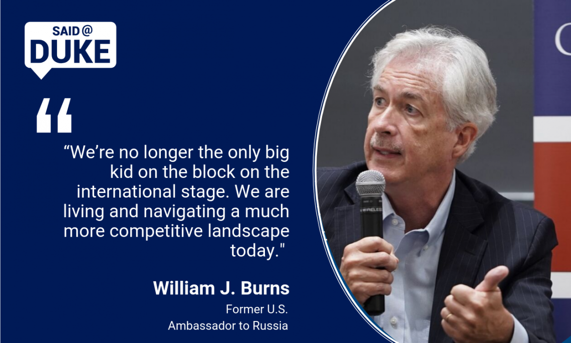 Said@Duke: Ambassador William Burns on America's Role