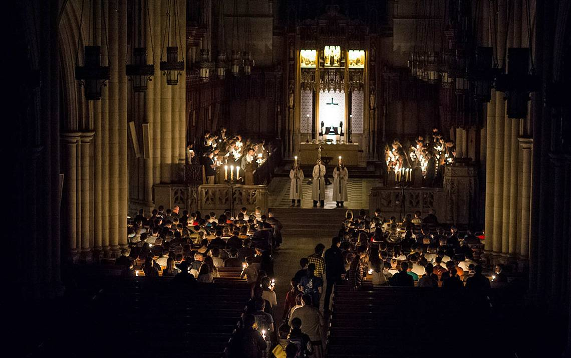 The candlelit All Hallow's Eve service takes place at Duke Chapel on October 31.