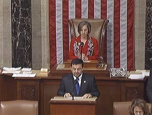 Imam Abdullah Antepli delivers the opening prayer at the US House of Representatives in 2010.