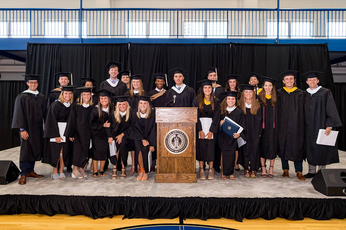 22 Duke student athletes graduated Monday in a special ceremony because they were competing Sunday. Photo by Reagan Lunn/Duke Athletics