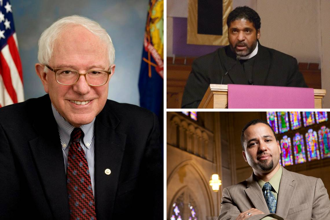 Sen. Bernie Sanders and Revs. William Barber and Luke Powery will hold a public conversation April 19.