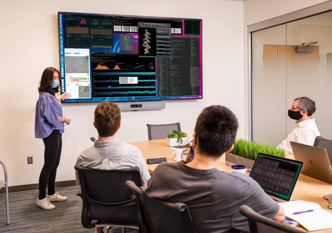 Bartesaghi's team discusses some Cryo-EM data