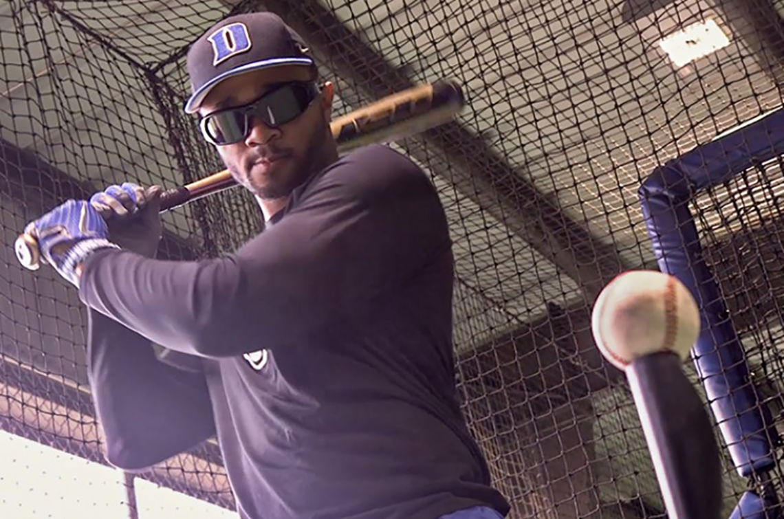 Duke baseball players participated in the study of the effectiveness of the vision training.