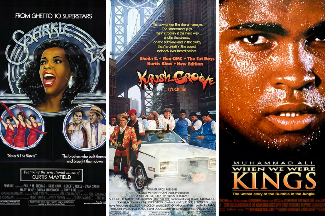 Krush Groove and other movie posters
