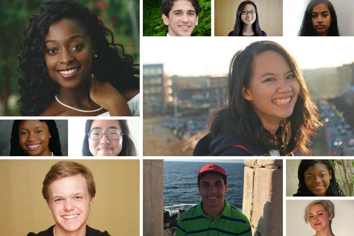 2018 BN Duke Scholars, from top left: Faith Gowen, Francisco Romano, Sarah Yu, Ella Dunham, Shania Khoo, Eka Ebong, Cayley Ryan, George Rateb, Max Miller, Bre Anna Clinkscales and Seayoung Lee