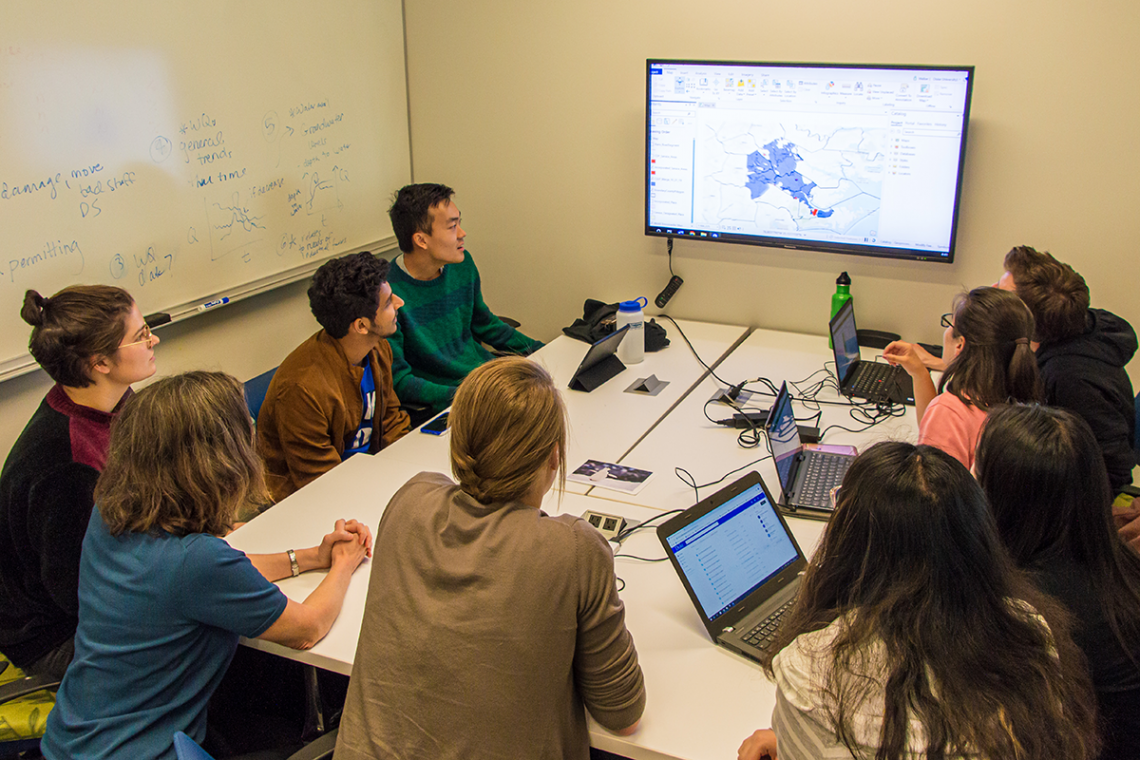 A team of students from the Nicholas School of the Environment and Pratt School of Engineering has been working for more than a year to create a single digital map of the service boundaries of North Carolina's drinking water systems