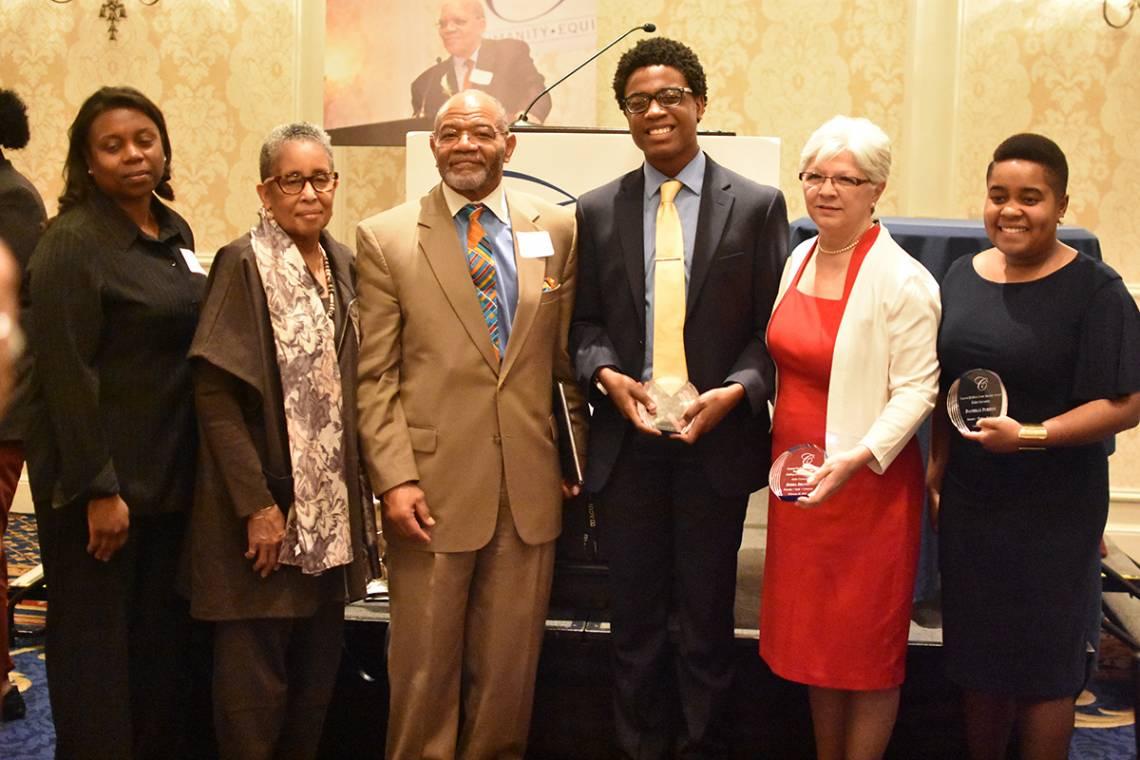 Cook Society honorees for 2018: Felicia Tittle, Andrea Harris, Rev. William Turner Jr., Michael J. Ivory Jr., Debra Brandon and Danielle Purifoy.