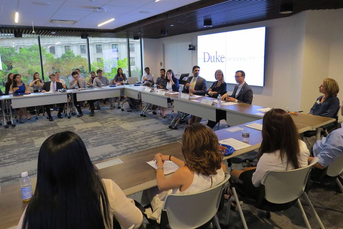Duke students learned how to get the most out of their DC internships from a panel of Duke alumni.