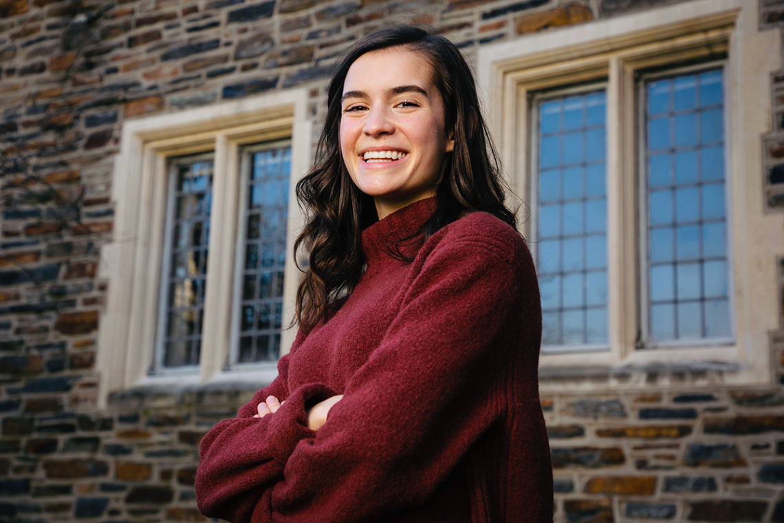 """Rhodes Scholar Gabriella """"Elle"""" Deich is a Program II major who participated in three Bass Connections project teams that developed open source computer science curricula for secondary schools and explored genetic engineering."""