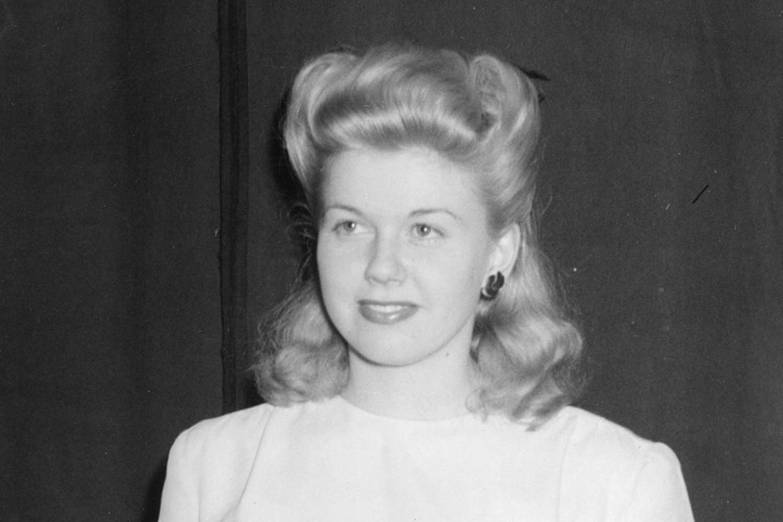 Doris Day during her 1944 visit to campus. Photo courtesy University Archives