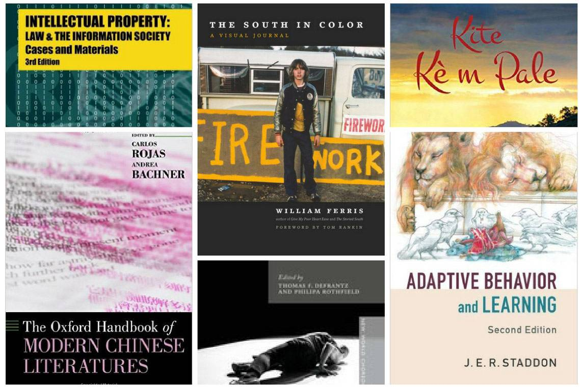New faculty books cover prominent academic topics from the American South to intellectual property