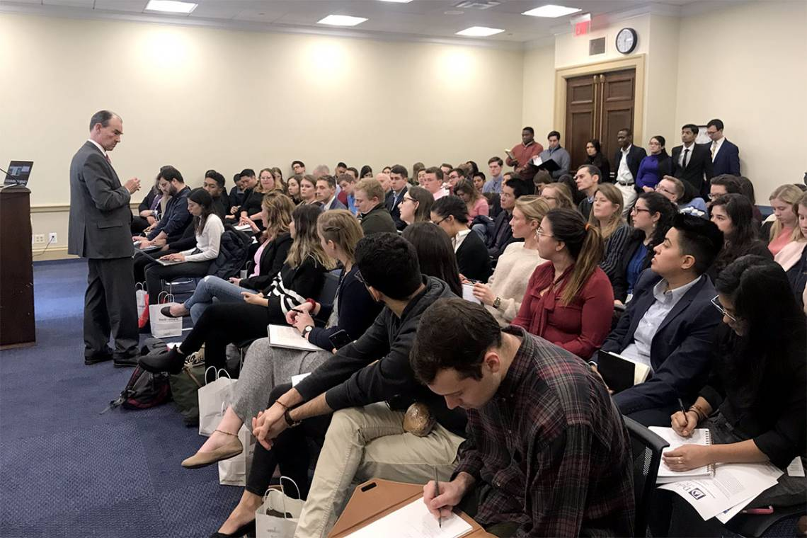 Patrick Duddy reviews the tumultuous situation in Venezuela at a Duke in DC brief for congressional staff and others.