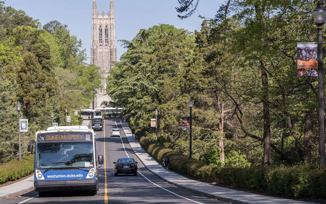Duke transit schedules adjust for the Thanksgiving 2017 holiday.