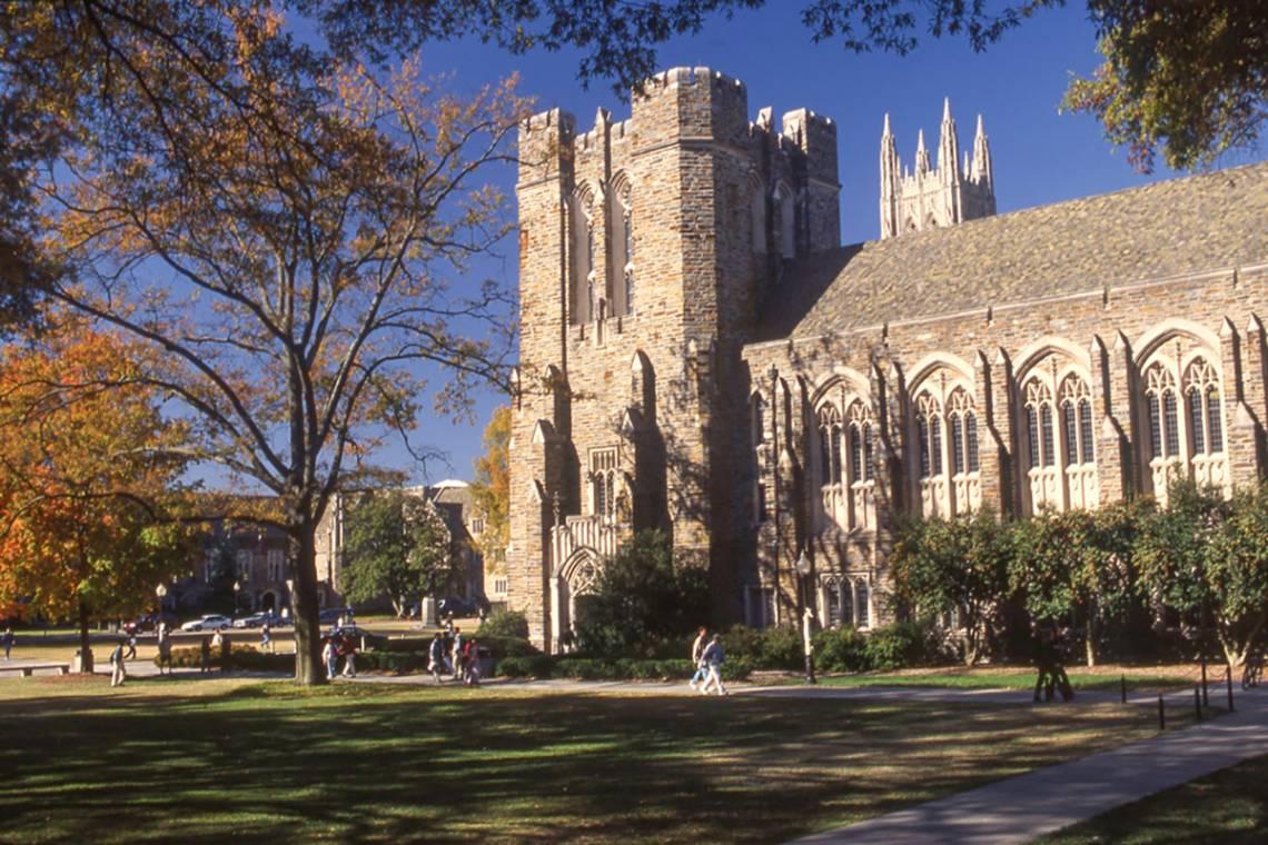 Duke's West Campus in 1999.