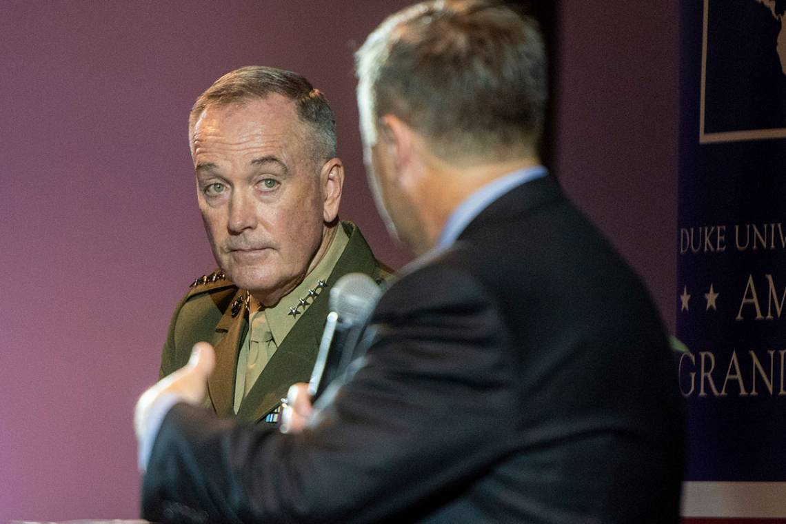 Gen. Joseph F. Dunford Jr. discusses the challenges facing the US military with Professor Peter Feaver.