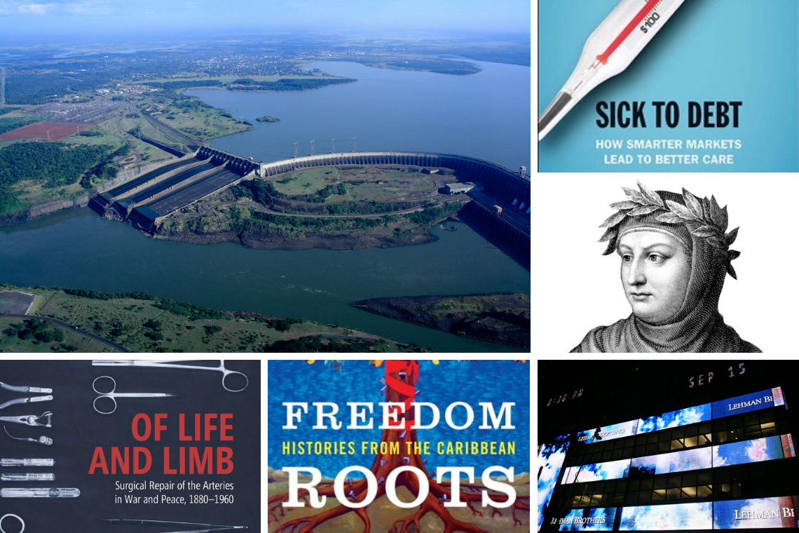 Fall books: The Itaipu dam between Brazil and Paraguay; Peter Ubel on health care costs; Lehman Brothers before the fall; Giovanni Boccaccio; Laurent Dubois on freedom in the Caribbean; and medicine in time of war.