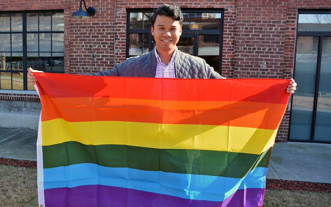 Solomon Enos is a member of the Duke Center for Sexual and Gender Diversity's OutDuke list. Photo by Jonathan Black.