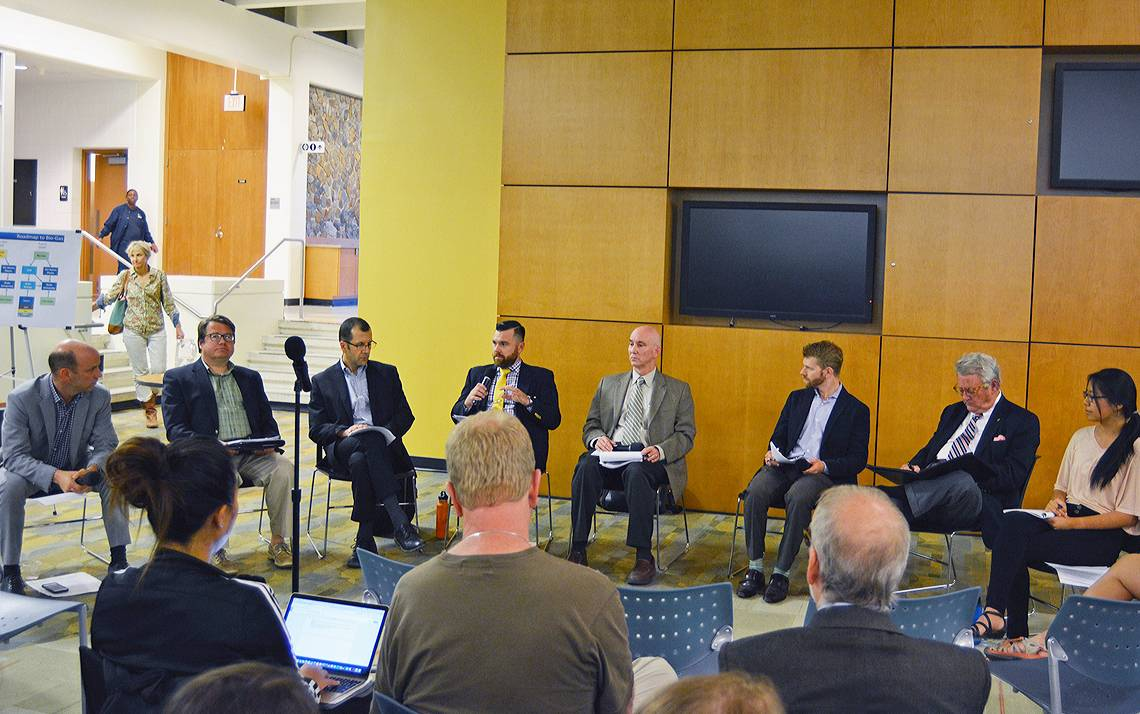 Faculty, staff and students were a part of a panel discussion about a proposed combined heat and power plant that could be built on Duke's campus.