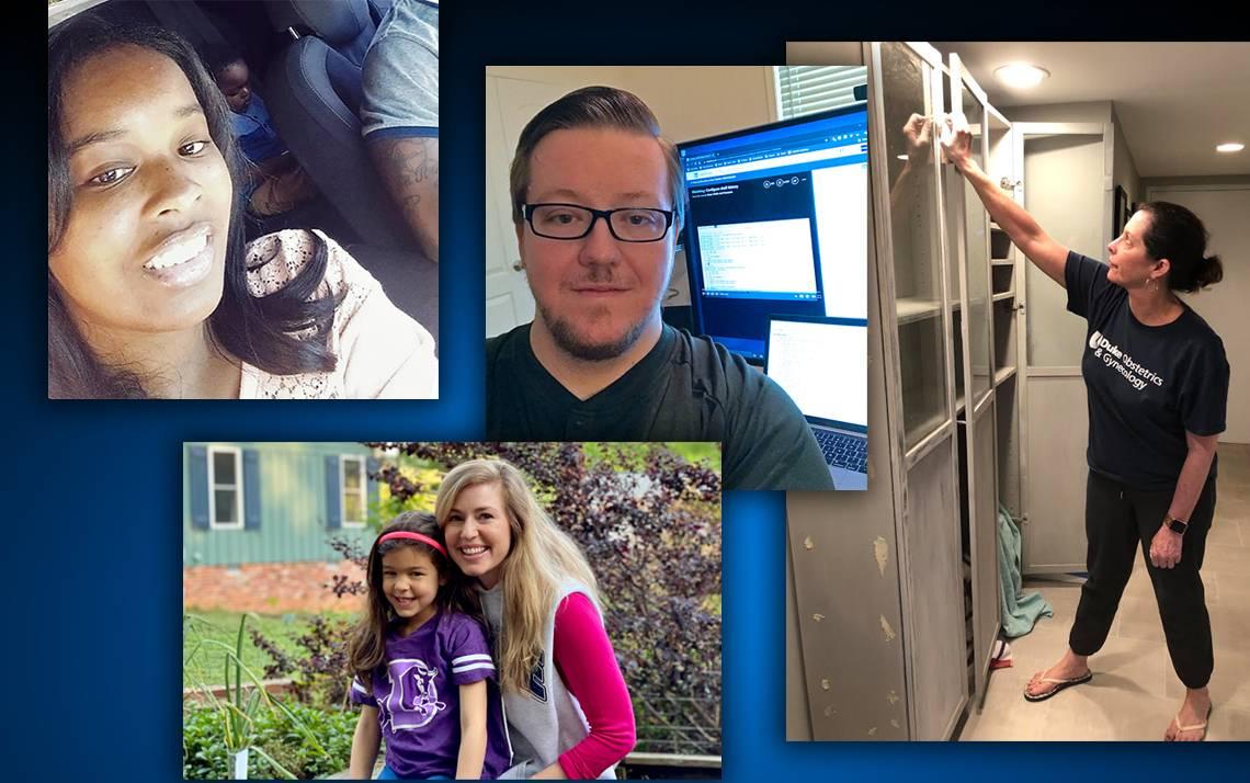 A collage of four photos.