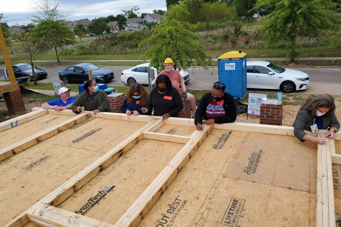 Work begins on the new Habitat house