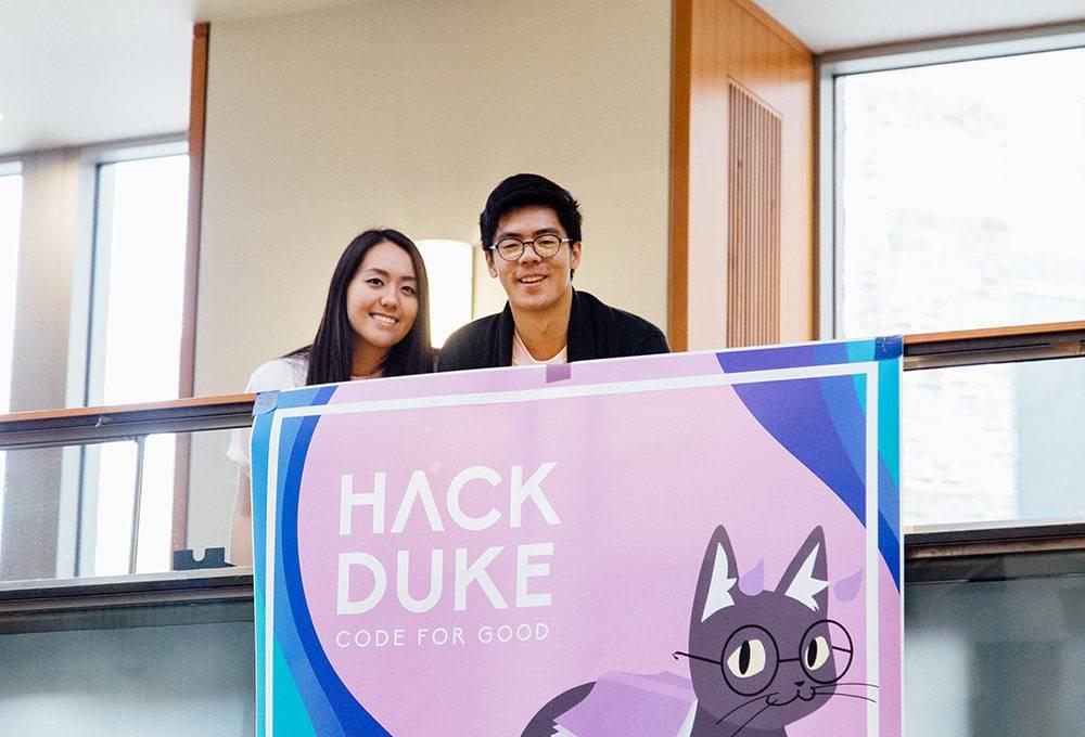 HackDuke organizers Michelle Chen and Yixin Lin. Photo by Pilar Timpane