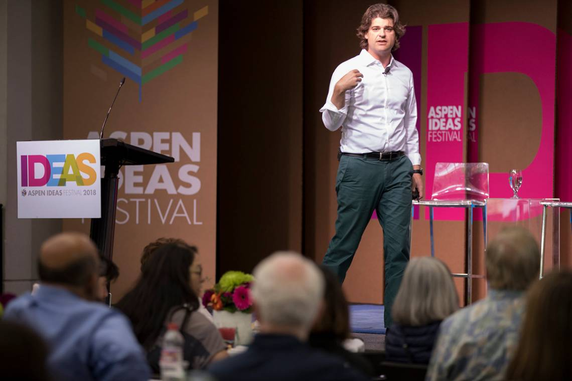Evolutionary anthropologist Brian Hare made two presentations at the Aspen Festival.