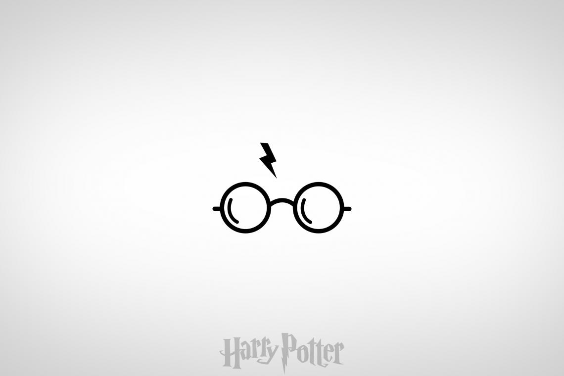 Harry Potter glasses and lightning scar