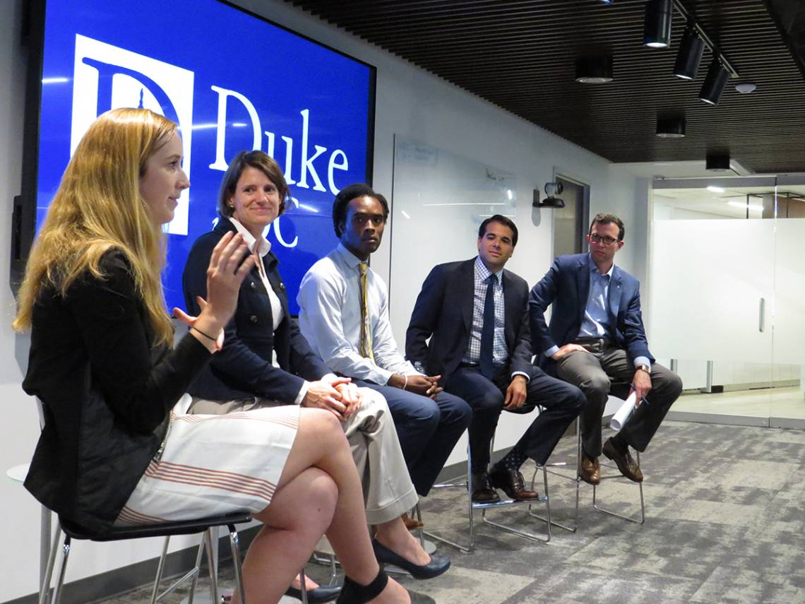 Duke alums discuss their careers and how they ended up working in DC