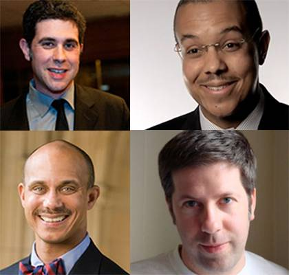 Clockwise from upper left: Stern, Bennett, Mitchell, Baker