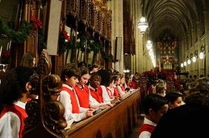 The Durham Children's Choir sang at a Christmas Eve service last year.