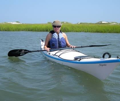 Denise Haviland kayaking on the Intercoastal Waterway near Swansboro, N.C.  Photo courtesy of Denise Haviland.